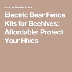 Electric Bear Fence Kits for Beehives: Affordable: Protect Your Hives