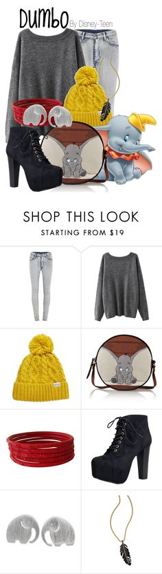 """""""Dumbo"""" by disney-teen ❤ liked on Polyvore featuring Cheap Monday, Rella, Olympia Le-Tan, Speed Limit 98, NOVICA and Bar III"""