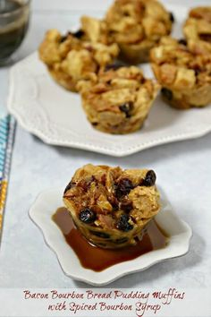 Bread Pudding Muffins are a chic modern twist on a comforting classic ...