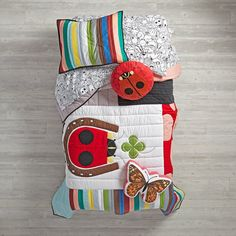 Shop Charley Harper Lucky Ladybug Bedding.  Wildlife artist Charley Harper changed the way we see the natural world.  And now we've changed the way you see his artwork with this exclusively-designed ladybug quilt.