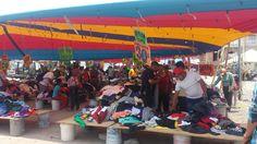 Tianguis en Puebla, México.