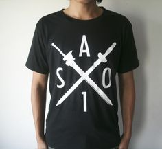 "The ""SAO 1"" design is an Original Sakura Zero design printed on a white/black natural cotton round neck t shirt.  Item Condition:Brand New  30 Business Days"