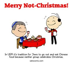 Webcomic: I want Chinese food too on Christmas. Tumblr Funny, Funny Memes, Hilarious, Satw Comic, Political Comics, I Love To Laugh, Fun Comics, History Facts, Comic Strips
