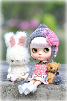 So pretty and with such soft colours!  by ♥ Elly Jelly ♥  Blythe with Bunny