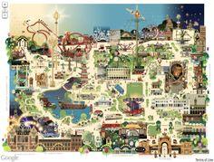 Tivoli map Copenhagen Travel, Copenhagen Denmark, Disney Magic, Tivoli Gardens Copenhagen, Tivoli Park, Tivoli Hotel, Theme Park Map, Denmark Travel, Denmark Map