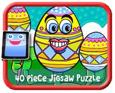 Egg Head 40 Piece Online jigsaw puzzle for kids