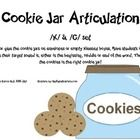 Free! Cookie Jar Artic...Tape or glue the cookie jars on envelopes or empty Kleenex boxes for k and g sounds.