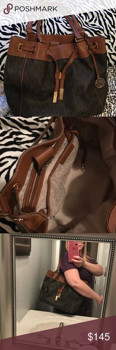 💜💜Michael Kors Bag💜💜💜 💜💜Large Marina Drawstring Bag Michael Kors Tote💜💜 Michael Kors Bags Shoulder Bags