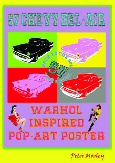 This is a Warhol inspired poster that I have done myself. I used a 57 Chevy Bel-Air as the subject matter and manipulated the colours of it in Adobe Photoshop. I chose this subject matter as it is from the 50's when popart first was seen in New York.