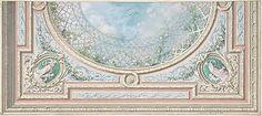 Design for Ceiling, Bedroom of Mme de Marconnoy