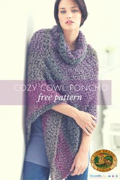 Crochet a Winter Cowl free crochet pattern from @lionbrandyarn