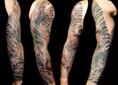 Traditional Japanese koi and peony sleeve by Aaron Bell at Slave to the Needle in Seattle WA Asian Tattoos, Boy Tattoos, Dream Tattoos, Body Art Tattoos, Tattoos For Guys, Tatoos, Koi Tattoo Sleeve, Japanese Sleeve Tattoos, Tattoo Sleeve Designs