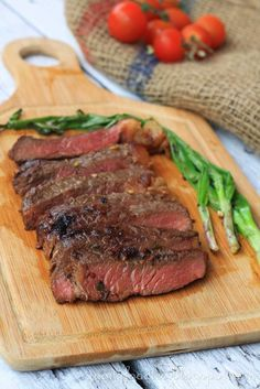 Goodyfoos Recipe Korean Style Marinated Steak With Grilled Scallions Bobby Flay