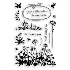 """Wildflower Sprigs Stampendous Perfectly Clear Stamps 4""""X6"""" Sheet 4X6-SSC-1072"""