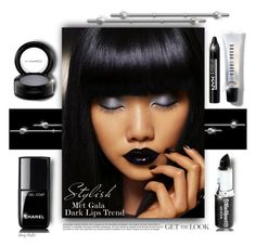 """""""Get the Met Gala Dark Lips Look"""" by mcheffer ❤ liked on Polyvore featuring beauty, Chanel, Bobbi Brown Cosmetics, NYX and MAC Cosmetics"""