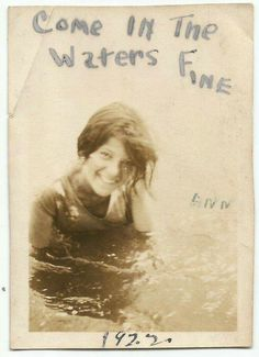 girl in the sea ~ 1922