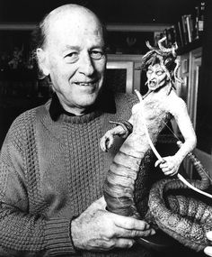 "Raymond ""Ray"" Harryhausen (June 29, 1920 – May 7, 2013) Rest in peace great genius - your work lives in our hearts. ( Clash of the Titans / Sinbad / Stop Motion Animation / Jason and the Argonauts and beyond !)"