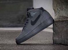 Nike Air Force 1 Mid- Dark Charcoal & Black