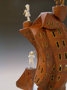 Dan Molyneux ceramic artist - Forgive Me Daughter For I Have Sinned Ceramic Houses, Clay Houses, Miniature Houses, Pottery Sculpture, Sculpture Clay, Ceramic Workshop, Architectural Sculpture, Ceramic Materials, Driftwood Art