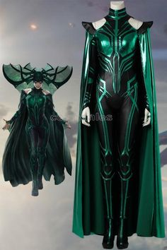 Movie THOR 3 Ragnarok Trailer Hela Cosplay Costume, Classic Halloween Cosplay Costume for Adult Women, Customized accepted Superhero Costumes Female, Disney Villain Costumes, Movie Character Costumes, Marvel Costumes, Marvel Cosplay, Cool Costumes, Adult Costumes, Female Super Hero Costumes, Comic Con Costumes