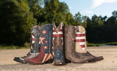 7 Pairs of Our Favorite Patriotic Boots: http://www.countryoutfitter.com/style/7-pairs-of-our-favorite-patriotic-boots/