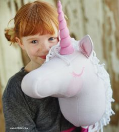 Find our fabric on Spoonflower to make a stick unicorn and then follow our easy video tutorial for putting it together, sure to be a hit at princess parties