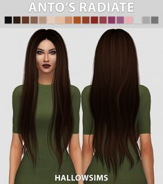 Anto's Radiate recolors at Hallow Sims via Sims 4 Updates