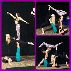 #Repost @lisettekrol Fun Acro Play with Sergia & Terri at @bittersweetstudios. Love triples! #acrotrio #acroyogatrio #acroyoga #acrobalance #sergia #lisette #terri #triples #trio #dreamteam #bittersweetstudios #acro @uspolesportsfederation #badkittypride #triples #h2h #handtohand #trust #balance #poledancers #gratitude #planetishome #base #flyer #ladybase #frontbird #acroplay by sergialouise