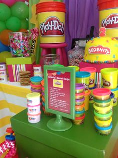 Play in dough party #pinkladyEvents