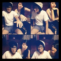 we don't even have to try it's always a good time! Whoa oh oh w/ my Beast Friend @xvcatherine  ♥ say hello to my boxers, teehee☺