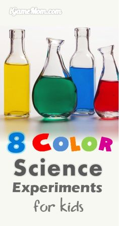 8 fun science activities for kids about colors. They are so easy and so fun that the youngest kids will be able to do and enjoy. Great STEM activities for kids of all ages at home or at school. They are also great to add to your homeschool curriculum to learn the 5 senses.
