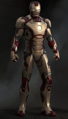 Iron Man Mark 102 Red and White by Rafael Amarante! Description from pinterest.com. I searched for this on bing.com/images