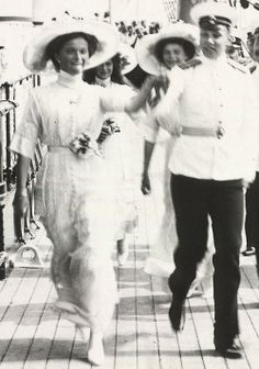 Grand Duchesses dancing on an Imperial yacht