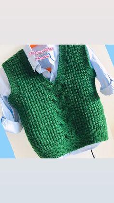 Crochet Baby Sweater Pattern, Baby Boy Knitting Patterns, Baby Sweater Patterns, Knit Vest Pattern, Knit Baby Sweaters, Knitting Designs, Baby Patterns, Loom Crochet, Filet Crochet Charts