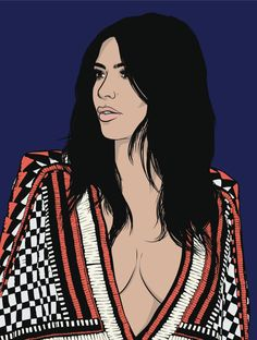 Kim Kardashian | Art by Samona Lena info@scaredofmonsters.com http://scaredofmonsters.com http://instagram.com/ho3sz http://scaredofmonsters.tumblr.com/ https://society6.com/scaredofmonsters http://nabaroo.com/Samona/nabs