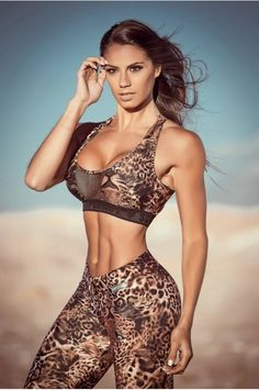 exotic animal-print shoot w/ Brazilian muscle girl & #Fitness model Carol Saraiva : if you LOVE Health, DIY Workouts & #Inspirational Body Goals - you'll LOVE the #Motivational designs at CageCult Fashion: http://cagecult.com/mma