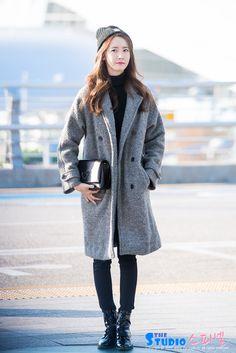 #yoona, #airportfashion, #winter