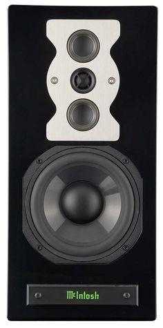 McIntosh speakers black front view no grille - Stereo Barn Audiophile Speakers, Monitor Speakers, Bookshelf Speakers, Hifi Audio, Stereo Speakers, Tape Recorder, High End Audio, Speaker System, Loudspeaker