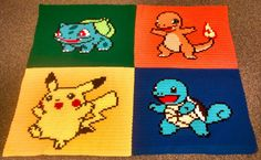 *Edit: Pattern available here! In honor of the 20th anniversary of Pokémon this year, this blanket felt like a must-do. Measuring in at a whopping 48 x 65 inches, this one was actually incredibly q…