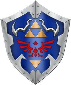 OOT Hylian Shield by BLUEamnesiac.deviantart.com on @DeviantArt