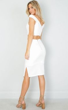 Still Falling For You two piece set in white