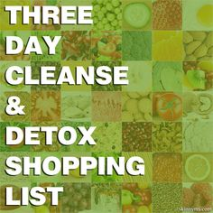 Three Day Cleanse & Detox Shopping List