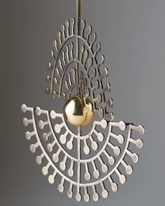 BENT & HELGA EXNER, Necklace, Denmark, c.1970s. Sterling silver and gilded silver. / Modernity
