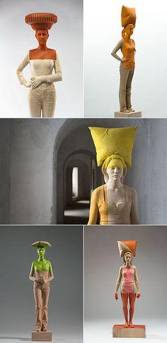 Willy Verginer- wood sculpture