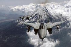 F-14 Tomcats near Mt Fuji