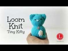 LOOM KNITTING Tiny Kitty Cat on Small Circle Looms Pattern - YouTube