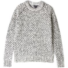 Theory Veer Zabra Mohair Popcorn Jumper (125 BAM) ❤ liked on Polyvore featuring tops, sweaters, jumpers, shirts, grey long sleeve shirt, theory sweaters, chunky grey sweater, long sleeve jumper and longsleeve shirt