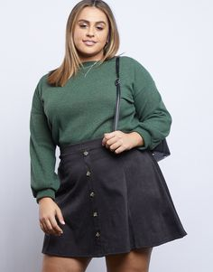 Plus Size New Arrivals - Affordable Trendy Plus Size Clothing Fall Fashion Skirts, Plus Size Fall Fashion, Plus Size Fall Outfit, Curvy Fashion, Autumn Fashion, Girl Fashion, Trendy Plus Size Clothing, Plus Size Dresses, Plus Size Outfits