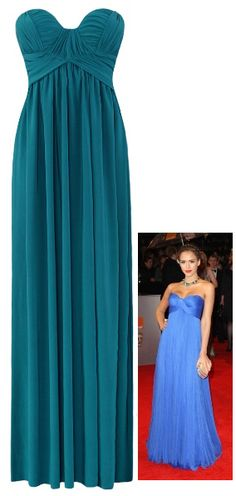 Maternity Evening Dress - as worn by Jessica Alba (Black or Teal). And only $104.95