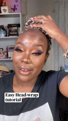Headwraps For Natural Hair, Natural Hair Tips, Natural Hair Styles, Hair Ponytail Styles, Hair Scarf Styles, Curly Hair Styles, African Hair Wrap, African Head Wraps, Natural African Hair